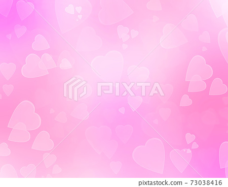 Pink romantic abstract background with hearts. 73038416