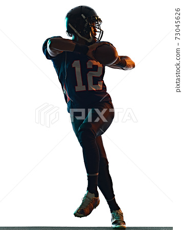 american football player man isolated white background 73045626
