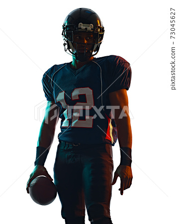 american football player man isolated white background 73045627