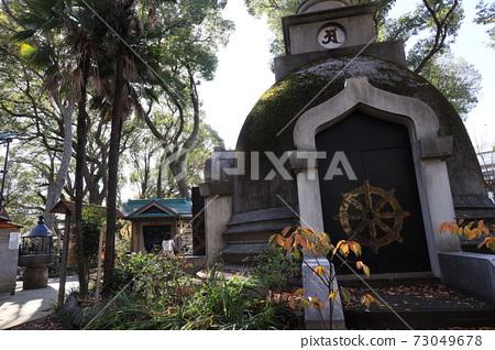 Great Buddha Pagoda of Ueno Daibutsu in Ueno Park, Taito-ku, Tokyo 73049678