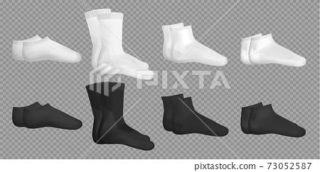 Black And White Realistic Socks Set 73052587