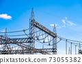 Substations, steel towers, insulators, high-voltage power lines 73055382