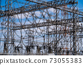 Substations, steel towers, insulators, high-voltage power lines 73055383