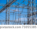 Substations, steel towers, insulators, high-voltage power lines 73055385