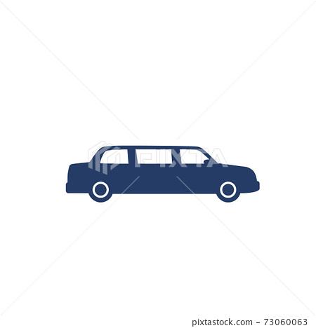 limo car icon on white 73060063