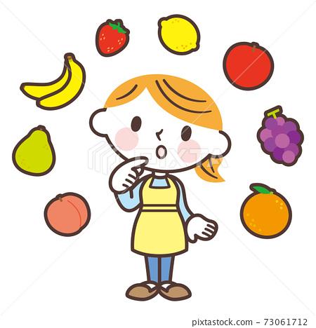 各種水果和婦女 73061712