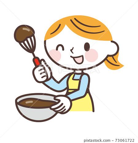 做巧克力的婦女 73061722