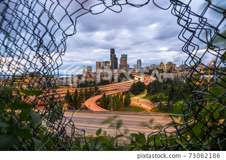 Seattle through the Fence 73062186