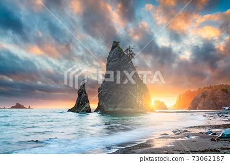Olympic National Park, Washington, USA at Rialto Beach. 73062187