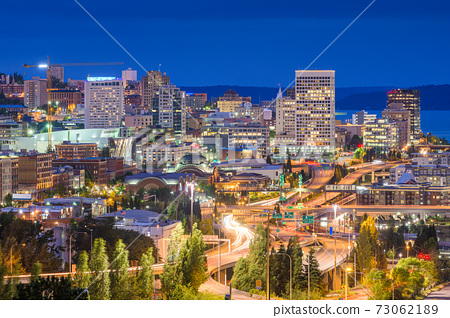Tacoma, Washington, USA Skyline 73062189