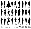 Silhouettes of fashion on a white background 73065810
