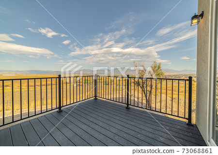 Outdoor deck or patio in the countryside 73068861