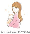 抱著嬰孩的婦女的例證 73074396