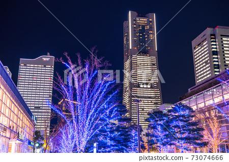 """""""가나가와 현""""요코하마 미나토 미라이 · 겨울의 일루미네이션 73074666"""
