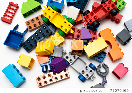 Lots of colorful block toys 73076466