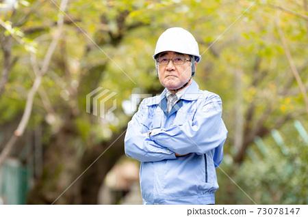 비즈니스 이미지 작업복 남성 헬멧 73078147