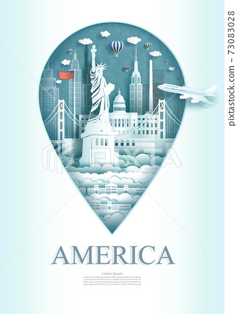 Travel landmark United of america monument architecture modern of Newyork. 73083028