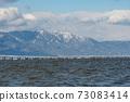 希拉山和琵琶湖橋的風景,被雪雲覆蓋 73083414