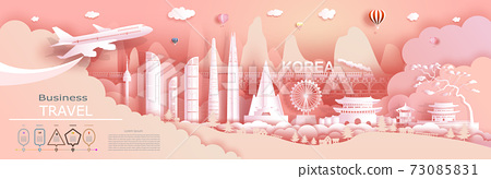 Advertising travel company go to Korea top world famous. 73085831