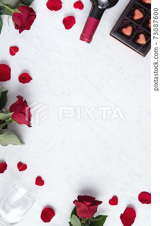 情人節 大餐 紅酒 玫瑰 禮物盒 Valentine Day Wine Gift バレンタイン 73087600