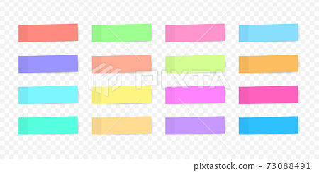 Colorful sticky note, vector illustration. 73088491