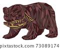 木雕熊 73089174