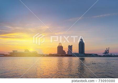 Mobile, Alabama, USA downtown skyline on the river 73093080