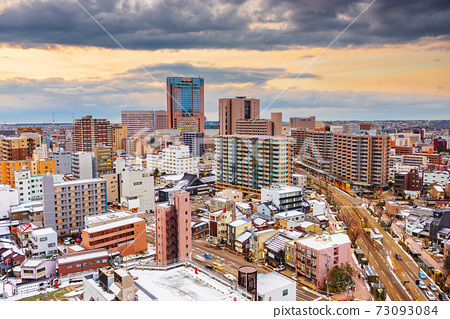 Kanazawa, Japan Downtown City Skyline 73093084