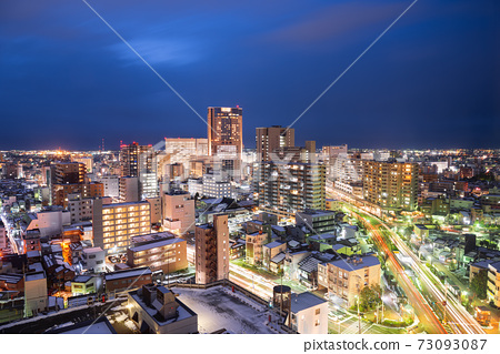 Kanazawa, Japan Downtown City Skyline 73093087
