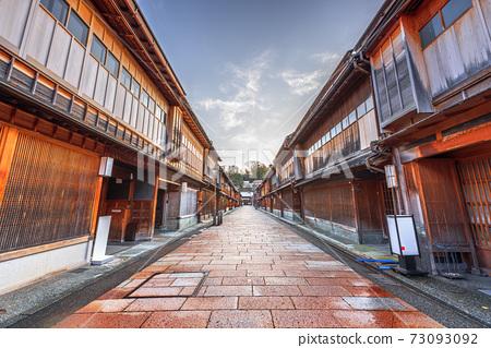Kanazawa, Japan at Higashichaya District 73093092