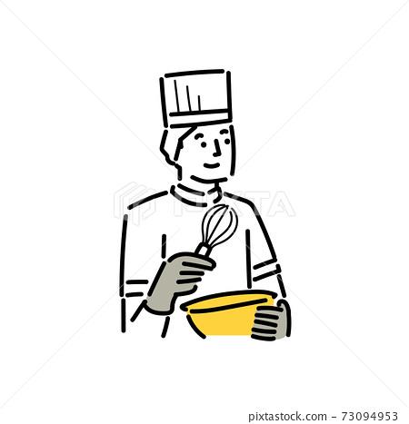 一個三十多歲的人在一家食品製造廠工作 73094953