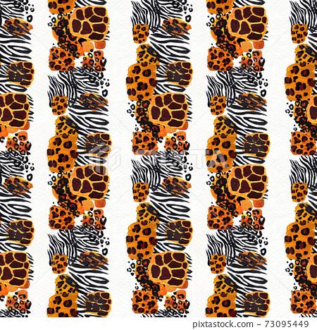 Animal mix print seamless pattern. Abstract background 73095449