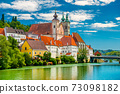 View of The Saint Michael's Church in Steyr, Upper Austria 73098182