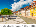 View of the main street in Kamnik, a small historical town in Slovenia 73098184