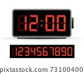 Digital clock number set. Time icon. Design element. Vector stock illustration. 73100400
