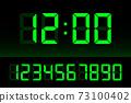 Digital clock number set. Time icon. Design element. Vector stock illustration. 73100402