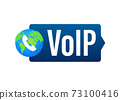 VoIP technology, voice over IP. Internet calling banner. Vector illustration. 73100416