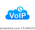 VoIP technology, voice over IP. Internet calling banner. Vector illustration. 73100429