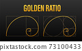 Golden ration. Abstract geometric background. Vector stock illustration. 73100433