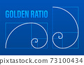 Golden ration. Abstract geometric background. Vector stock illustration. 73100434