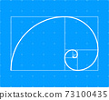 Golden ration. Abstract geometric background. Vector stock illustration. 73100435