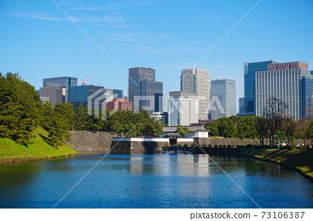 Chiyoda city Tokyo Japan Skyscrapers Emperor park 73106387