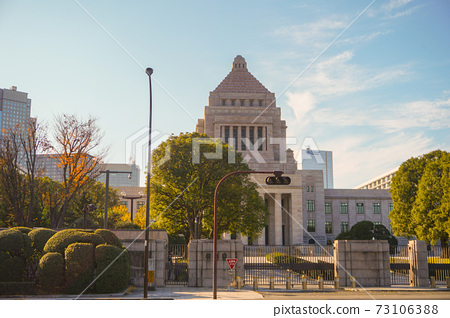 National Diet Building in Tokyo, Japan. Japanese Parliament. 73106388