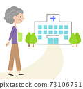 Senior woman going to the hospital 73106751