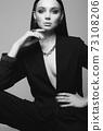 fashion portrait of Beautiful sexy woman in jewelry 73108206