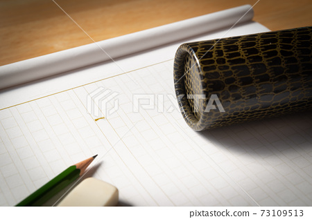 手稿紙文憑圓柱方格教育畢業論文 73109513