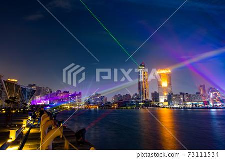 【臺灣高雄港海洋流行音樂中心夜景Kaohsiung Harbor Night View 】 73111534