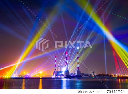 【臺灣高雄港海洋流行音樂中心夜景Kaohsiung Harbor Night View 】 73111704