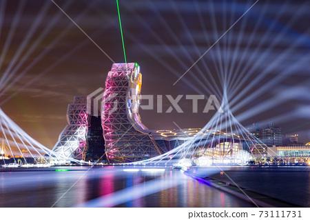 【臺灣高雄港海洋流行音樂中心夜景Kaohsiung Harbor Night View 】 73111731