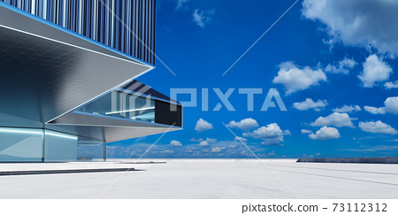 Steel and glass modern building exterior 73112312